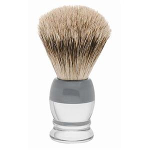 Becker Manicure - Shaving brushes - Badger hair shaving brush, plastic handle, white/grey