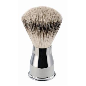 "ERBE - Shaving brushes - ""Silver Tip"" Shaving Brush, Polished Metal Handle"