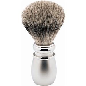 ERBE - Pędzelek do golenia - Pędzel do golenia Silvertip, biała matowa plastikowa rączka