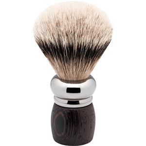 ERBE - Shaving brushes - Rhodium wenge wood shaving brush, silvertip