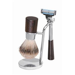 Becker Manicure - Rasiersets - Rasier-Set Wengeholz, Gillette Mach3, 3-teilig