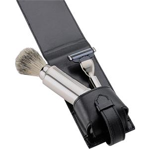 ERBE - Shaving sets - Shaving set in leather bag 3-part