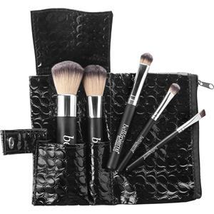 Bellápierre Cosmetics Make-up Pinsel Travel Brush Set Foundation Powder Brush + Angled Blush Brush + Concealer Brush + Liner/Brow Brush + Eyeshadow Brush 1 Stk.