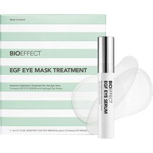 Image of BioEffect Anti-Aging Pflege Gesichtspflege EGF Eye Mask Treatment Set EGF Eye Serum 3 ml + Eye Mask 12 Pads 1 Stk.