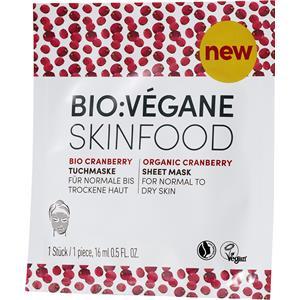 Bio:Végane Pflege Bio Cranberry Tuchmaske 16 ml