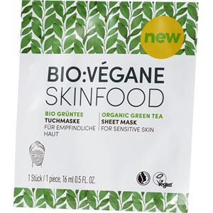 Bio:Végane Pflege Bio Grüntee Tuchmaske 16 ml