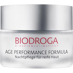 Image of Biodroga Anti-Aging Pflege Age Performance Formula Nachtpflege für reife Haut 50 ml