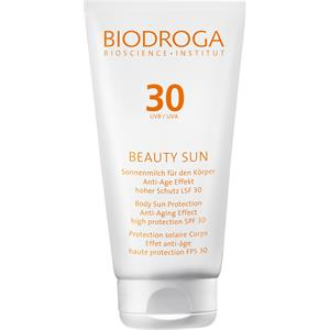 Biodroga - Beauty Sun - Sonnenmilch für den Körper Anti-Age Effekt LSF 50