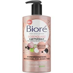 Bioré - Gesichtspflege - Rosenquarz + Aktivkohle Porenreinigendes Waschgel