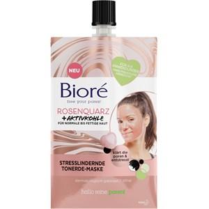 Bioré - Gesichtspflege - Rosenquarz + Aktivkohle Stresslindernde Tonerde-Maske
