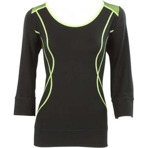 Blacky Dress - Tops & Shirts - Netzshirt schwarz grün