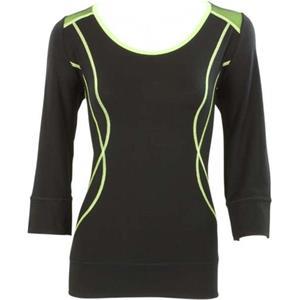 Blacky Dress - Tops & Shirts - Netzshirt schwarz grün