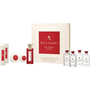 Bvlgari Unisexdüfte Eau Parfumée au Thé Rouge Guest Set Eau de Cologne Spray 75 ml + Refreshing Towels 2 x 12 g + Shampoo & Shower Gel 75 ml + Hair Conditioner 75 ml + Body Lotion 75 ml + Soap 50 g + Soap 75 g + Shampoo 75 ml 1 Stk.