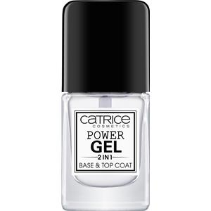 Catrice - Esmaltes de base y de acabado - Power Gel 2 In 1 Base & Top Coat