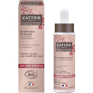 Cattier - Gesichtspflege - Pistazien Tropfen & Himbeeröl  Straffendes Öl-Serum Caresse Soyeuse