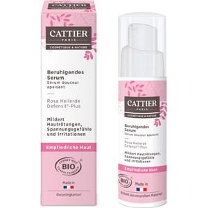Cattier - Gesichtspflege - Rosa Heilerde & Defensil®-Plus  Beruhigendes Serum Philtre Exquis