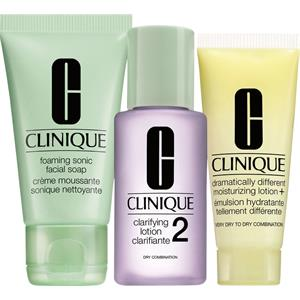 Clinique 3-Phasen Systempflege 3-Phasen-Systempflege 3-Step Trial Kit Liquid Facial Soap Mild 30 ml + Clarifying Lotion 2 30 ml + DDML+ 15 ml 1 Stk.