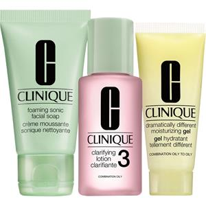 Clinique 3-Phasen Systempflege 3-Phasen-Systempflege 3-Step Trial Kit Liquid Facial Soap Oily 30 ml + Clarifying Lotion 3 30 ml + DDMG 15 ml 1 Stk.