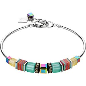 Coeur de Lion - Armbänder - Geo Cube Armband Mintgrün-Gelb