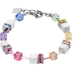 Coeur de Lion - Armbänder - Geo Cube Armband Pastell-Weiß