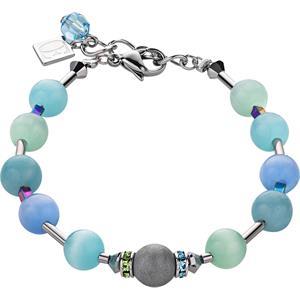 Coeur de Lion - Armbänder - Swarovski Kristalle & Achat Armband Blau-Grün