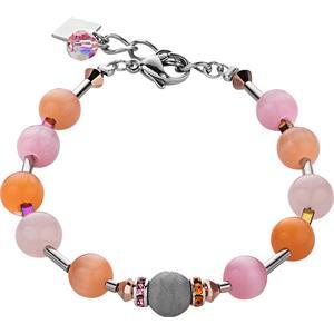 Coeur de Lion - Armbänder - Swarovski Kristalle & Achat Armband Orange-Rosa