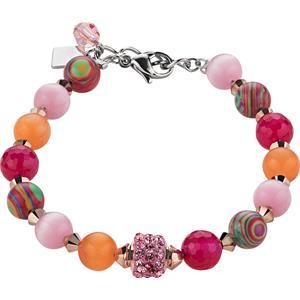 Coeur de Lion - Armbänder - Swarovski Kristalle & Achat Armband Pink-Orange
