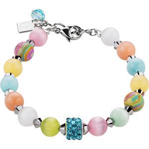 Coeur de Lion - Armbänder - Swarovski Kristalle & Tigerauge Armband Multicolor Pastell