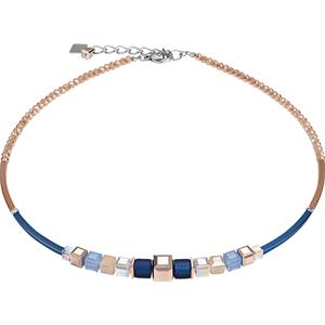 Coeur de Lion - Halsketten - Geo Cube Collier Blau