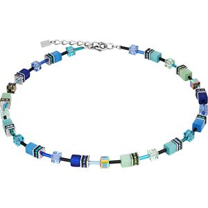 Coeur de Lion - Halsketten - Geo Cube Collier Blau-Grün
