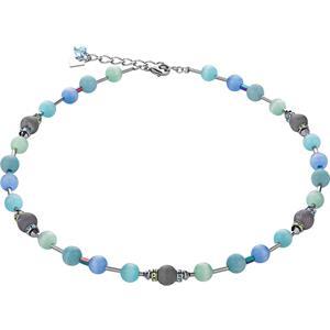 Coeur de Lion - Halsketten - Swarovski Kristalle & Achat  Collier Blau-Grün