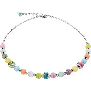 Coeur de Lion - Halsketten - Swarovski Kristalle & Tigerauge Collier Multicolor Pastell