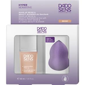 Image of Dado Sens Make-Up Gesicht Geschenkset Hypersensitive Make-up Nr. 02K Almond 30 ml + Beauty Blender 1 Stk.