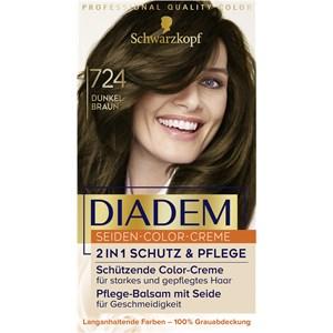 Diadem - Coloration - 724 Dunkelbraun Stufe 3 Seiden-Color-Creme