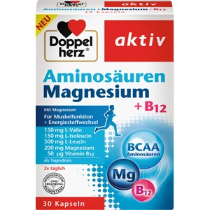 Doppelherz - Energie & Leistungsfähigkeit - Aminosäuren Magnesium + B12  Kapseln