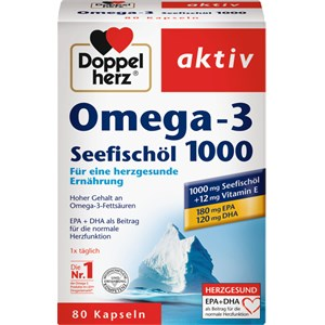 Doppelherz - Herz-Kreislauf - Omega-3 + Seefischöl Kapseln