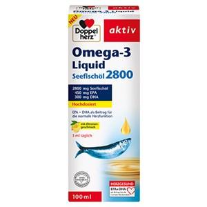 Doppelherz - Omega-3 Fettsäuren - Omega-3 Liquid Seefischöl