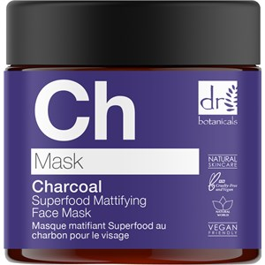Dr Botanicals - Gesichtspflege - Charcoal Superfood Mattifying Face Mask
