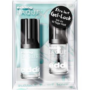 edding Make-up Nägel Power of LoveP.O.W.E.R. Set L.A.Q.U.E. Nr. 214 Marry Me Mint 8 ml + Gel-Look Top Coat 8 ml 1 Stk.