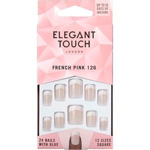 Elegant Touch - Kunstnägel - Natural French 126 Pink Short
