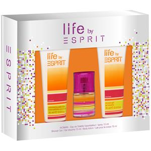 Esprit Damendüfte Life by Esprit Woman Geschenkset Eau de Toilette Spray 15 ml + Body Lotion 75 ml + Shower Gel 75 ml 1 Stk.