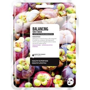 Farmskin - Masken - Superfood For Skin Balancing Sheet Mask Mangosteen