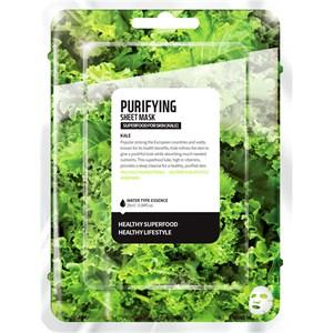 Farmskin - Masken - Superfood For Skin Purifying Sheet Mask Kale