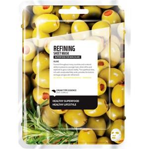 Farmskin - Masks - Superfood For Skin Refining Sheet Mask Olive