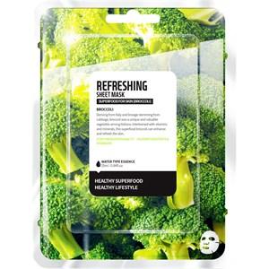 Farmskin - Masks - Superfood For Skin Refreshing Sheet Mask Broccoli