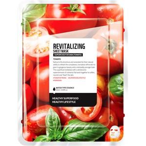 Farmskin - Masken - Superfood For Skin Revitalizing Sheet Mask Tomato