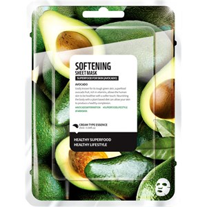 Farmskin - Masken - Superfood For Skin  Softening Sheet Mask Avocado