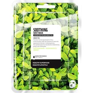 Farmskin - Masken - Superfood For Skin Soothing Sheet Mask Green Tea