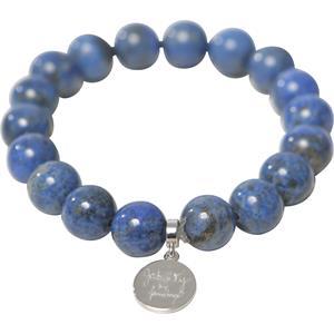 Gab & Ty by Jana Ina - Bransoletki - Bransoletka na gumce niebieski lapis lazuli srebro próby 925