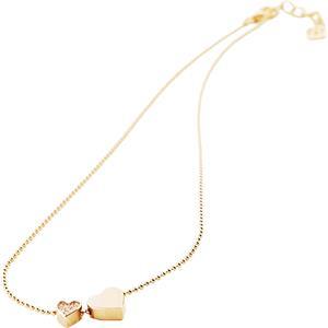 Gab & Ty by Jana Ina - Halsketten - Herzkette mit zwei Herzanhängern, rosegold plattiert